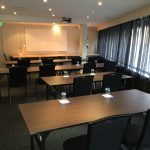 Royal Coach Hotel private meeting room set classroom style for presentation