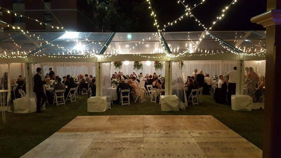 Outdoor wedding ceremony hire adelaide