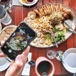 seafood platter at Estia restaurant Henley Square Adelaide